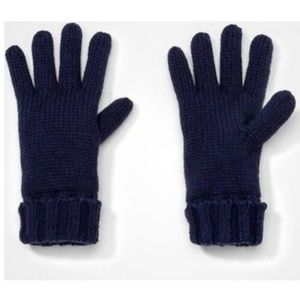 NWT Cat & Jack Cable Knit Gloves Navy (Blue)